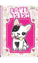 CADERNO UNIV CD 10X1 200FL LOVE PEPA R.3480 KAJOMA
