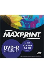 DVD-R 4,7GB / 120MIN 16X ENVELOPE MAXPRINT